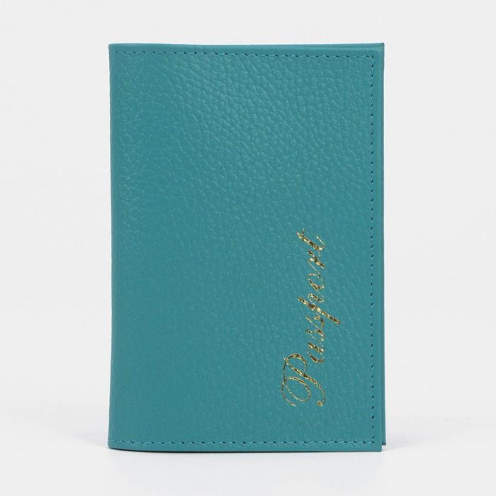 Обложка для паспорта, голубой флотер