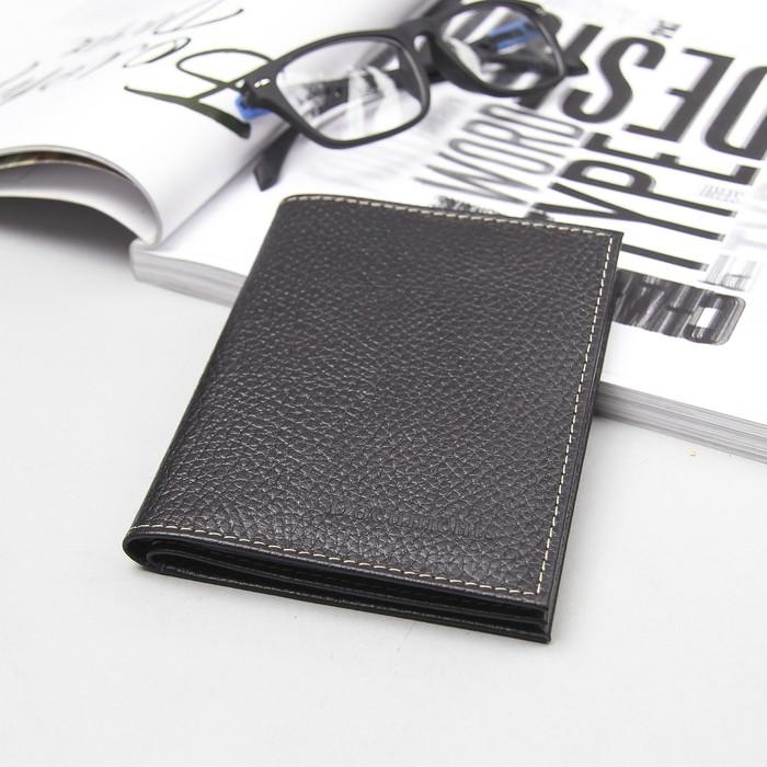 Обложка для автодокументов и паспорта, чёрный флотер
