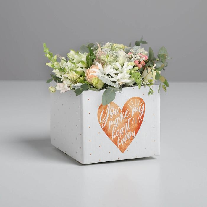 Складная коробка «Сердце», 10 × 12 × 12 см - фото 9214527