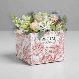 Складная коробка «Цветы», 10 × 12 × 12 см