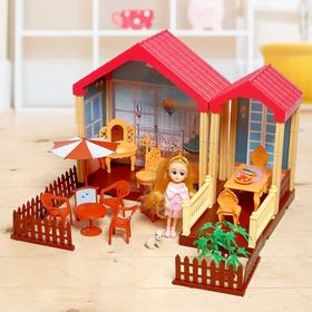Dollhouse with furniture and accessories