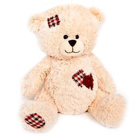 Мягкая игрушка «Мишка Лука с заплатками и сердцем», 22 см