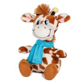 Мягкая игрушка «Жираф Димон в шарфике» озвученный, 20 см