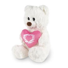 Мягкая игрушка «Мишка белый с сердцем», 30 см