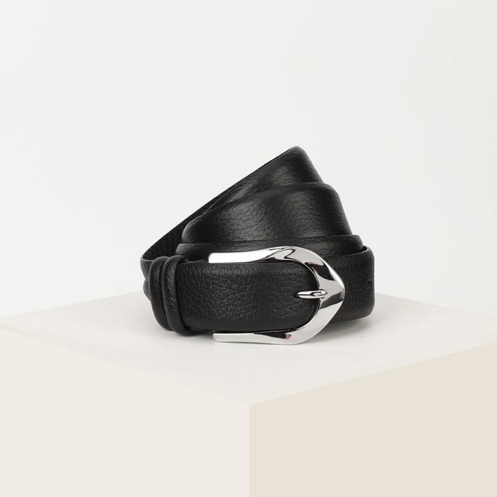 Ремень женский, ширина 3,5 см, винт, пряжка металл, чёрный - фото 776083