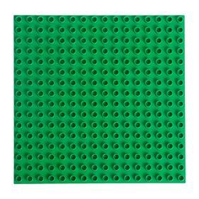 Пластина-перекрытие для конструктора 25,5 х 25,5 × 0.8 см, цвет зелёный
