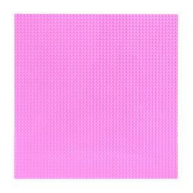 Пластина основание для конструктора 40 х 40, цвет розовый