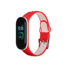 "Фитнес-браслет Smarterra Fitmaster TON, 0.96"", TFT, IP65, NFC, 90 мАч, красно-белый"