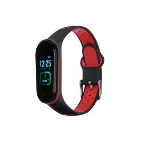 "Фитнес-браслет Smarterra Fitmaster TON, 0.96"", TFT, IP65, NFC, 90 мАч, чёрно-красный"