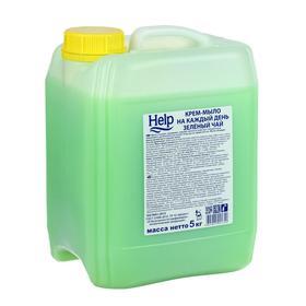 """Крем-мыло Help """"Зеленый чай"""", 5л"""