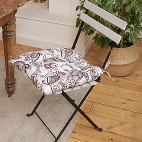 """Сидушка на стул """"Этель"""" Восточные узоры  42х42см, 100% хлопок, 190 г/м2"""