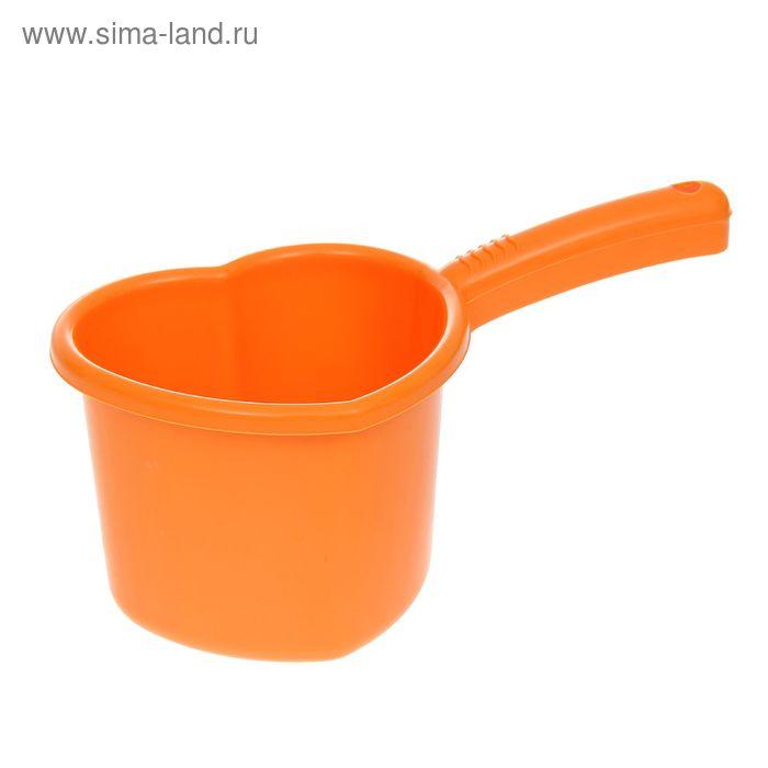 """Ковш 1,5 л """"Сердечко"""", цвет мандарин"""