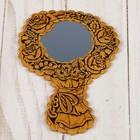 Зеркало «Роза», с ручкой, береста