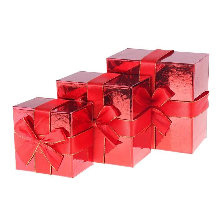 """Набор коробок 3 в 1 квадратные """"Комплимент"""""""
