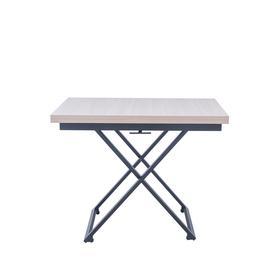 Стол-трансформер Leset Манхэттен,черный муар, шимо светлый 1000/1400х700/1000х760