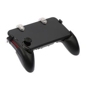 Набор игровой 5 в 1, джойстик, ширина до 18 см, 2 стика, 2 курка, черно-красный