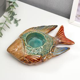 "Подсвечник керамика на 1 свечу ""Морская рыбка"" 5х18,5х11 см"