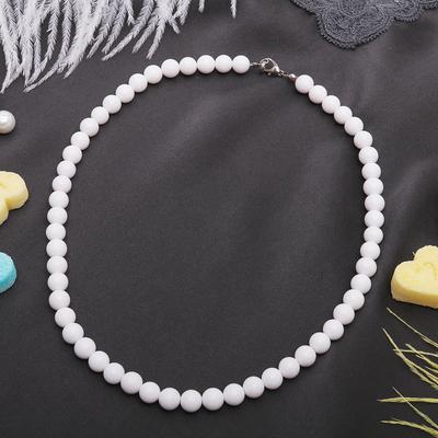 """Beads ball No. 8 """"white agate"""", 45cm"""