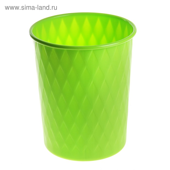 """Ведро для мусора 19,5*19,5*24 см """"Ромб"""", зеленое"""