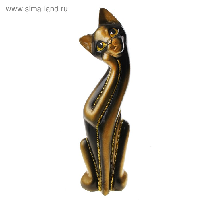 "Копилка ""Кошка Муся"" чёрно-жёлтая"