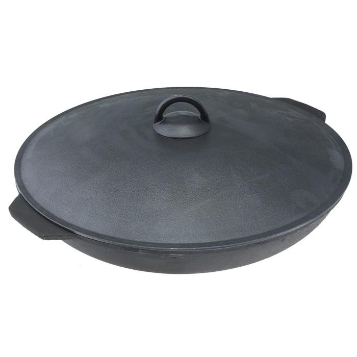 Сковорода d=28 см, высота 6 см, алюминиевая крышка
