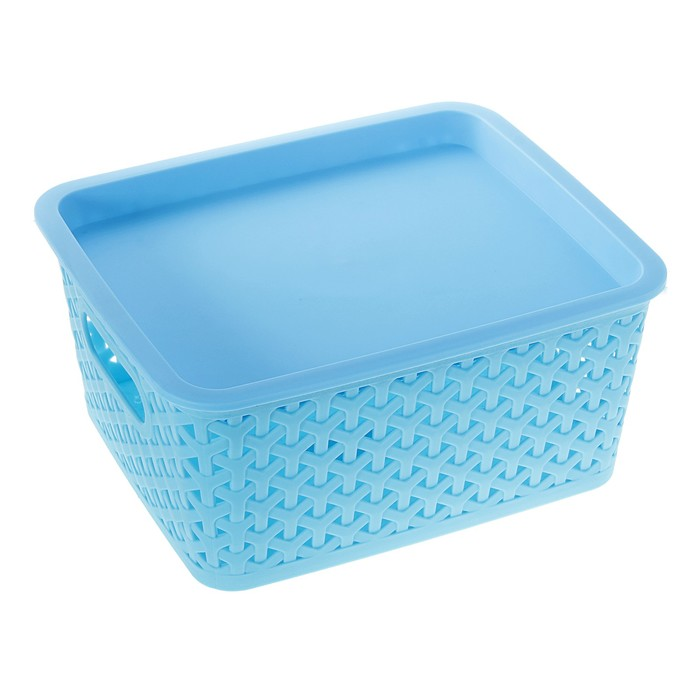 "Корзина для хранения ""Плетенка"", цвет синий"