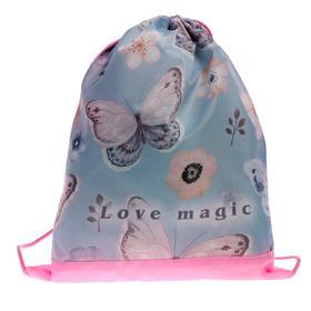 "Мешок для обуви 420*340, СДС-3, для девочки ""Бабочки"""