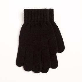 Перчатки детские, цвет чёрный, размер 17