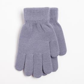 Перчатки детские, цвет серый, размер 17