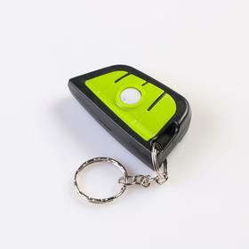 Фонарь-брелок COB, лазер, R032, 3 режима, лазер