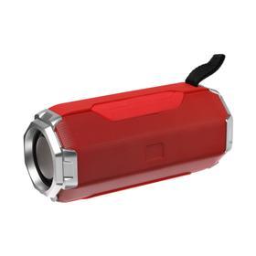 Портативная колонка LuazON PS-06, 12 Вт, 1200 мАч, красная