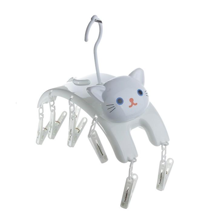 """Сушилка для белья подвесная 27х11х8 см """"Кошка"""", 10 прищепок"""