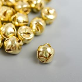 "Set of decor for creativity metal ""gold"" d=0,6 cm set of 30 pcs"