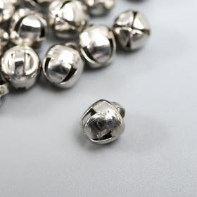 "Set of decor for creativity metal ""Silver"" d=0,6 cm set of 30 pcs"