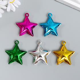 "Set of decor for creativity metal ""Bell stars"" 0, 9x2, 5x2, 5 cm set of 5 pcs"