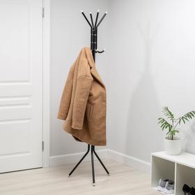 Вешалка-стойка «Тюльпан», 60×18×170 см, цвет чёрный - фото 4641583