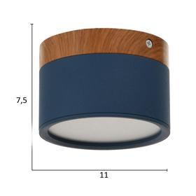Светильник LED 12Вт 4000К синий 11х11х7,5 см