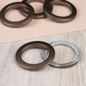 Eyelets for curtains, d = 5 cm, 10 pcs, color dark matt bronze.