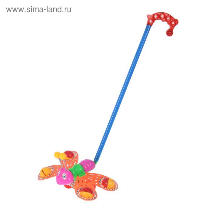 "Каталка ""Бабочка-погремушка"", цвета МИКС"