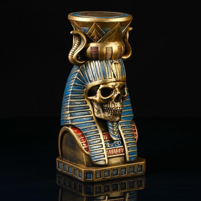 """Статуэтка """"Череп Фараон"""", золотистый, 33, 5 см - фото 9214539"""