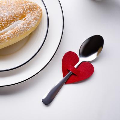 "Envelope for cutlery ""Love"" red, 5.4 x 5 cm, 100% p/e, felt"