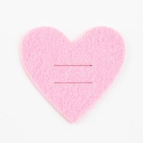 """Конверт для столовых приборов """"Love"""" розовый, 5,4 х 5 см, 100% п/э, фетр"""