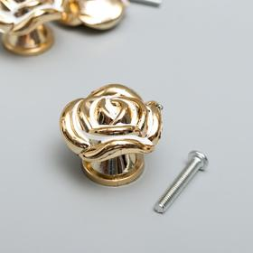 """Handle for jewelry box plastic """"Rose"""" gold 2, 6x3, 3x3, 3 cm"""