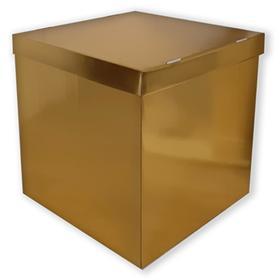 Balloon box, 60x60x60cm, gold, set of 3pcs.