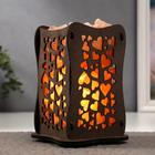 """Salt lamp with dimmer switch """"Vase"""" pattern of the heart, E14 15W 2kg Himal.salt 22x12x12cm"""