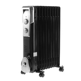 Радиатор Polaris PRE Q 1025, масляный, механический регулятор, 2500 Вт, 11 секций, черный