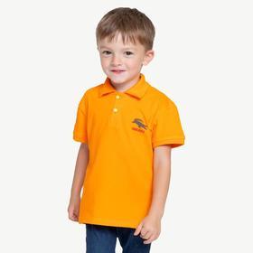 Футболка-поло для мальчика «КРОК», цвет оранжевый, рост 128 см