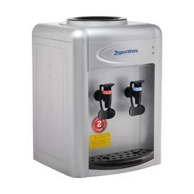 Кулер для воды AquaWork AW 0.7 TDR, нагрев/охлаждение, 700 Вт, нажим кружкой, серебристый