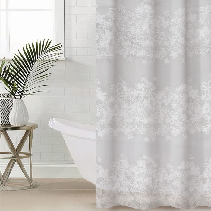 "Штора для ванной 180х180 см ""Ажур"", EVA"
