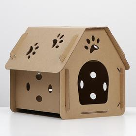 Домик для кошки «Кристофер» бурый, 400х305х390